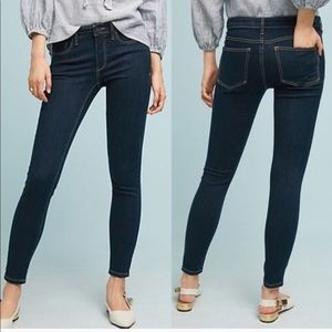 Anthro Pilcro Stet Dark Wash Skinny Ankle Jeans